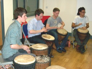 Intermediate African drumming class